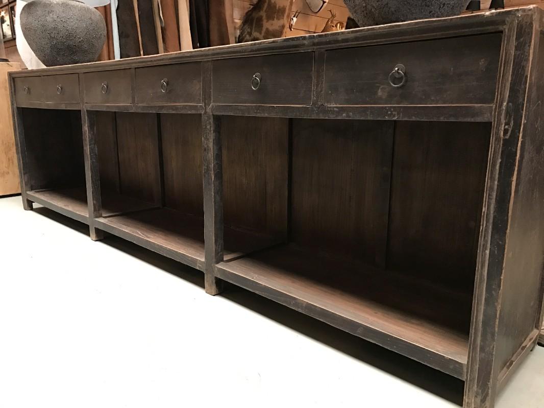 48 inch sideboard antike groe kommode dresser mit offenem for Sideboard petrol