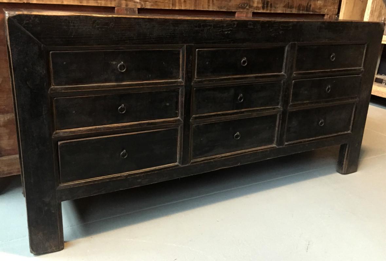 Antiek dressoir met mooie oude laklaag dressoir heeft een mooie landelijke meubels meubels - Oude meubilair dressoir ...