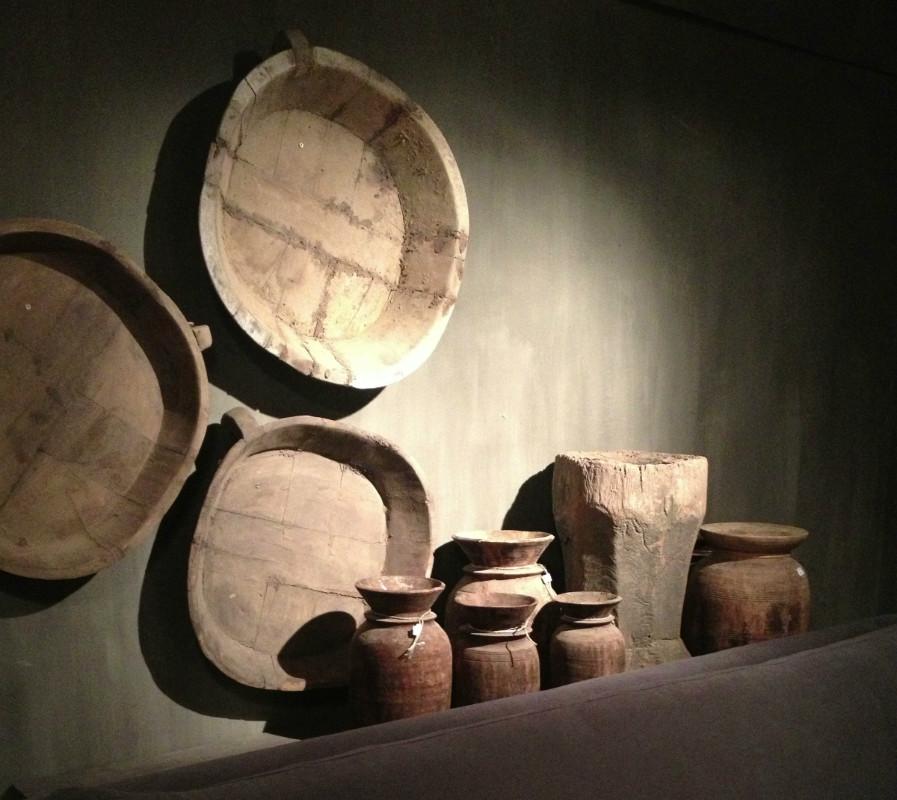 Antieke houten schalen houten fruitschaal decoratie for Interieur decoratie artikelen