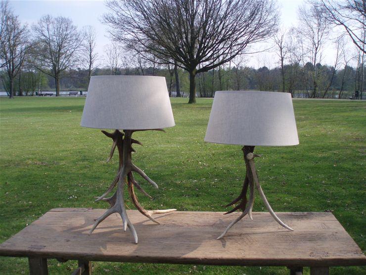 Geweilamp kroonluchter van gewei lamp gemaakt van gewei for Lamp gewei