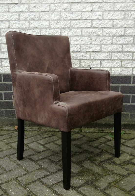 Eettafel fauteuil stoel renesse with eettafel fauteuil for Eettafel stoel leer