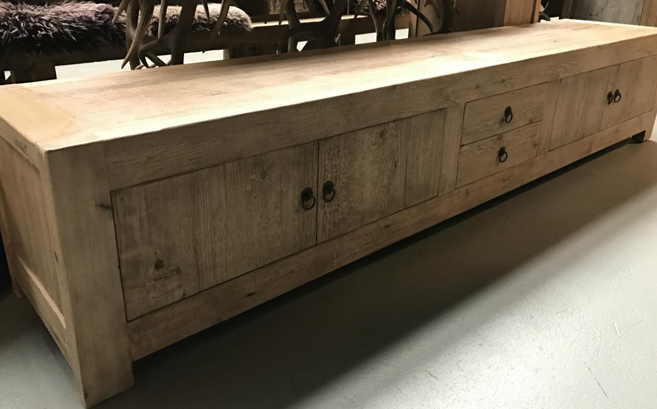 Lang Tv Meubel.Ds 184 Very Large Tv Dresser Made Of Beautiful Living Elm Wood