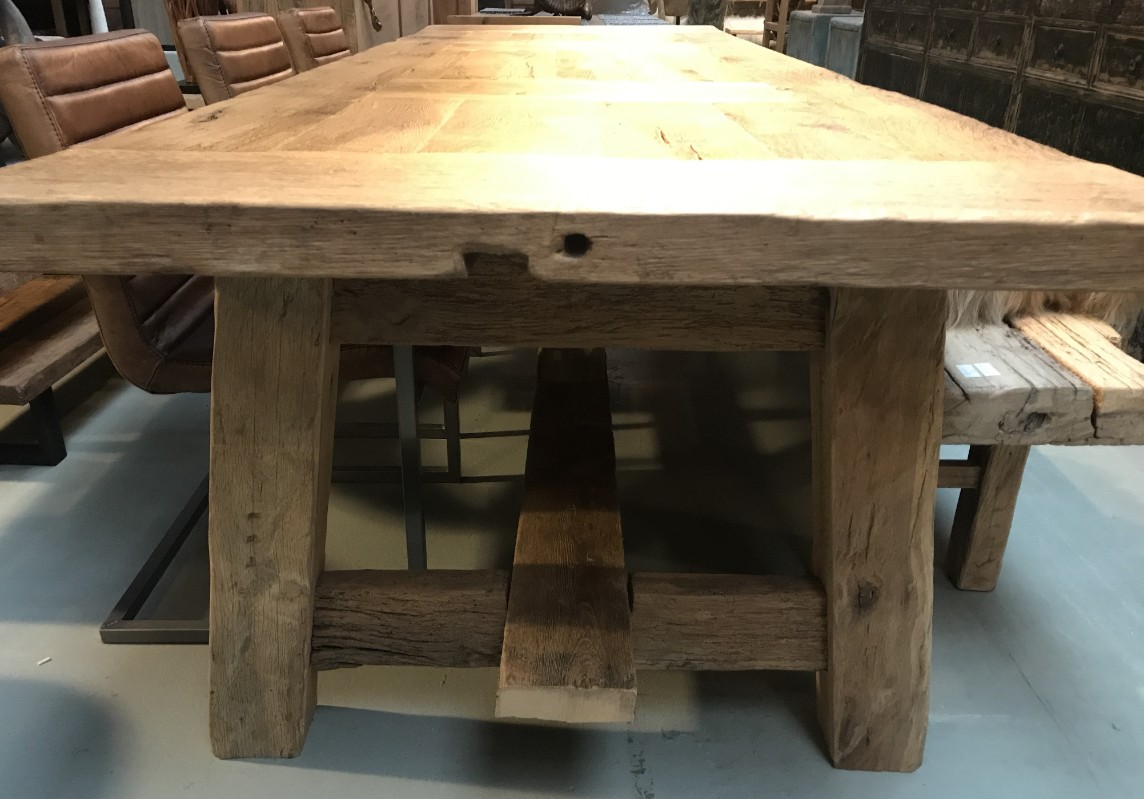 Grosser Esstisch aus Eich Holz - Esstisch - Antike Tische