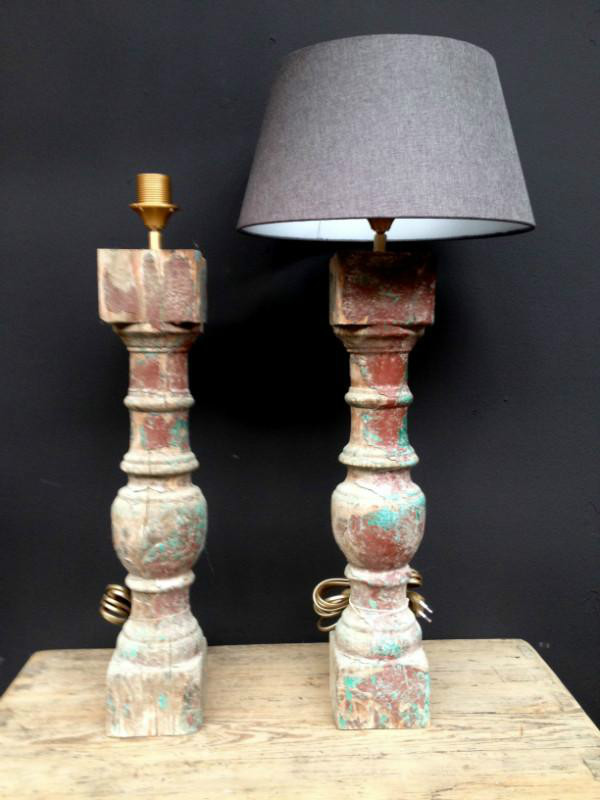 Lamps made of old consolles decoratie artikelen for De jong interieur