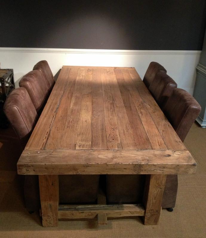 Zeer fraaie zware teakhouten tafel tafel van teak hout for Teakhouten tafel
