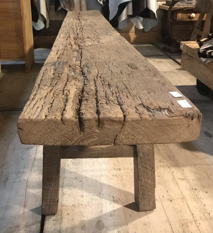 Onwijs Robuuste oud houten bank - houten banken en krukjes voor binnen en JM-81