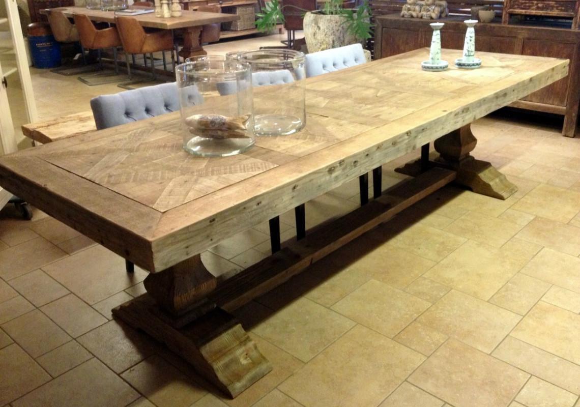 Stijlvolle houten tafel - eetkamertafel - Antieke tafels, tafels van ...