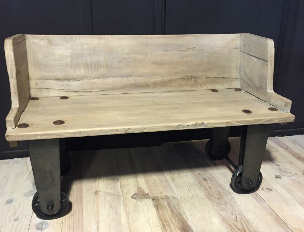 Super Trolley bank, Rustieke bank, Bank oud hout, robuuste meubelen #MR72